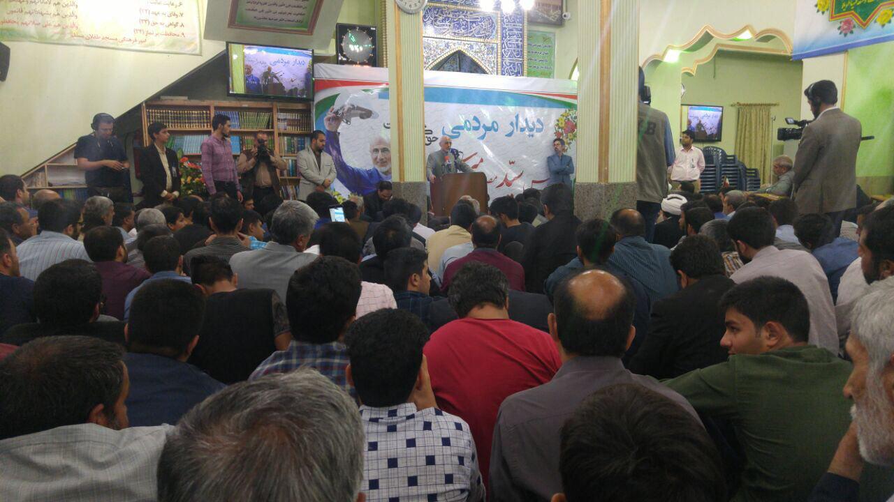 میرسلیم در جمع مردم کرمان ؛ در انتخابات سراغ كسي نرويد که یا خودشان و نزدیکانشان دنبال صرافی راه انداختن باشند