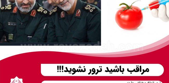 نفوذ دشمن در بشقاب غذای مردم؛ مراقب باشید ترور نشوید!!!